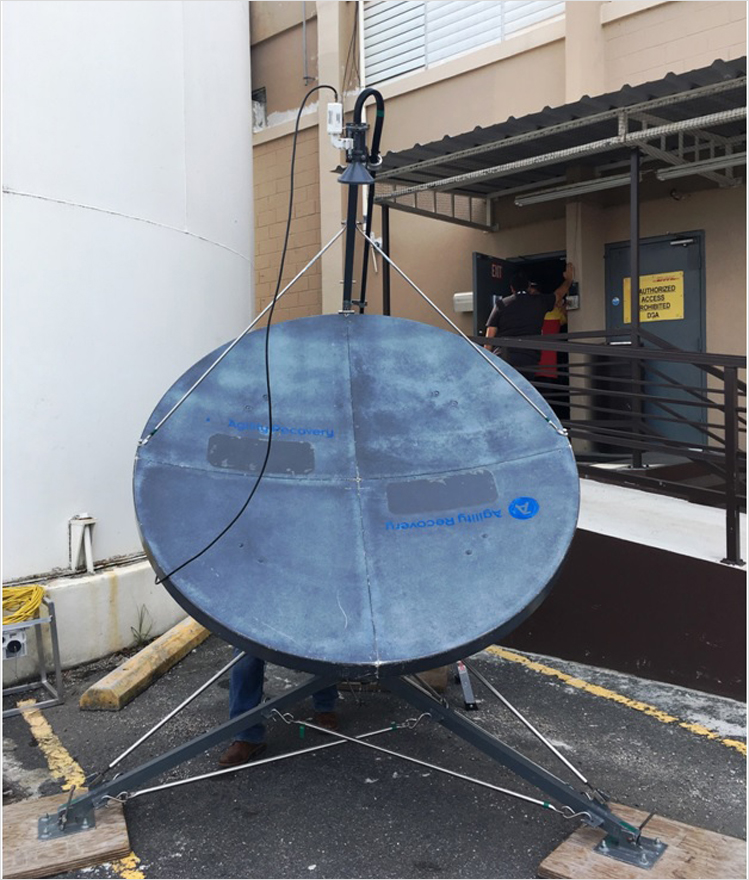 Satellite dish at DGF SJU